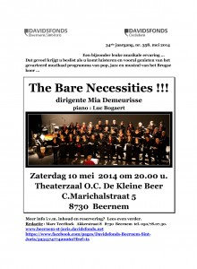 Microsoft Word - Mei 2014 Optreden koor The Bare Necessities zat